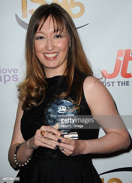 Writer Lisa Gifford accepting for Peter Halpin Best Lead Actor in a Drama 3 Some attends 5th Annual Indie Series Awards held at El Portal Theatre on...