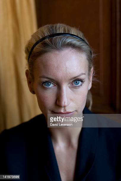Writer Lisa Hilton poses for a portrait at the Oxford Literary Festival on March 27 2012 in Oxford England
