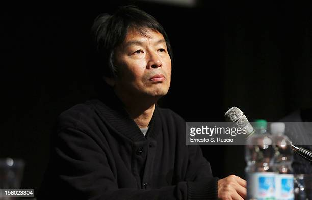 Writer Liu Zhenyun attends the Back To 1942 Press Conference during the 7th Rome Film Festival at the Auditorium Parco Della Musica on November 11...