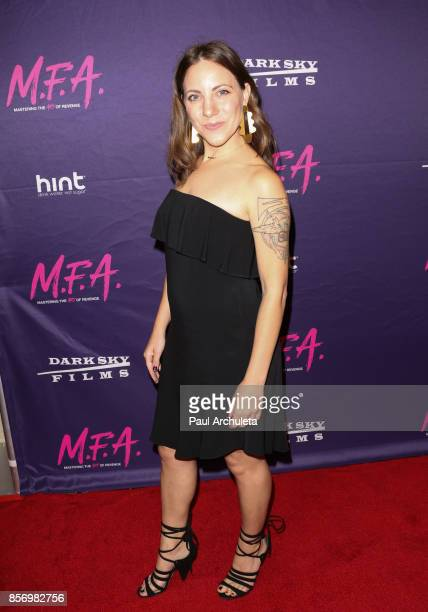Writer Liz Armstrong attends the premiere of Dark Sky Films' 'MFA' at The London West Hollywood on October 2 2017 in West Hollywood California