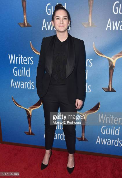 Writer Liz Hannah attends the 2018 Writers Guild Awards LA Ceremony at The Beverly Hilton Hotel on February 11 2018 in Beverly Hills California