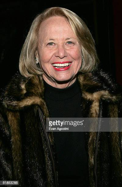 Writer Liz Smith attends the Warner Bros film premiere of 'The Phantom of the Opera' at the Zeigfeld Theatre December 12 2004 in New York City