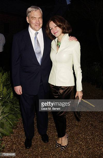 Writer Lord Conrad Black and his wife columnist Barbara Amiel attend the Cartier Gala Evening at the Chelsea Physic Garden May 20 2003 in London...