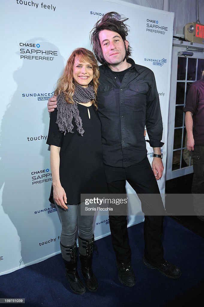 Writer Lynn Shelton and cinematographer Benjamin Kasulke attend the Premiere Party presented by Chase Sapphire at The Shop during the 2013 Sundance Film Festival on January 19, 2013 in Park City, Utah.