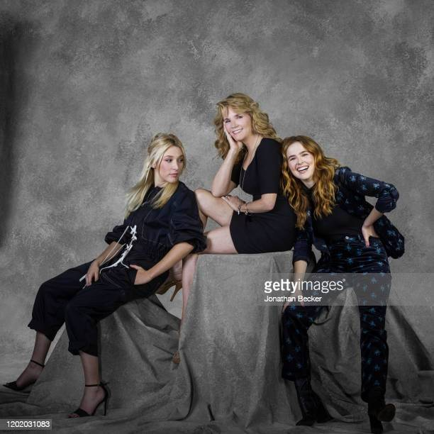 Writer Madelyn Deutch mom/actress Lea Thompson and sister/actress Zoey Deutch pose for a portrait at the Savannah Film Festival on October 28 2017 at...