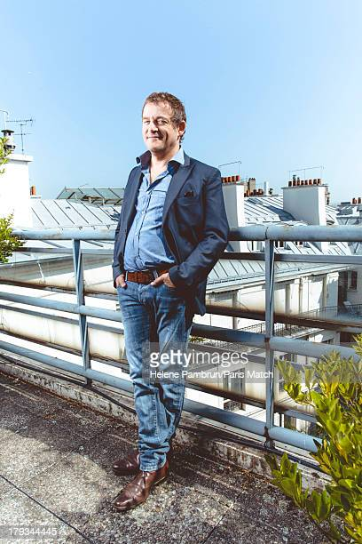 Writer Marc Weitzmann is photographed for Paris Match on August 21 2013 in Paris France