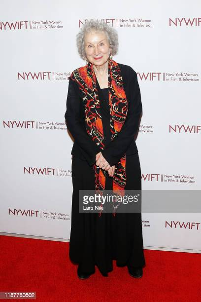 Writer Margaret Atwood attends the 2019 NYWIFT Muse Awards at the New York Hilton Midtown on December 10 2019 in New York City