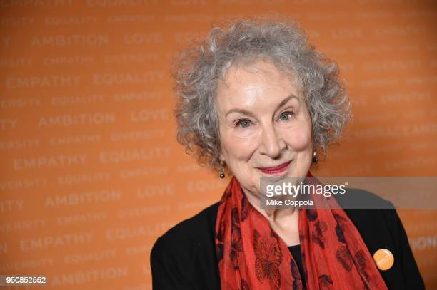 Writer Margaret Atwood attends The Tory Burch Foundation 2018 Embrace Ambition Summit at Alice Tully Hall on April 24, 2018 in New York City.