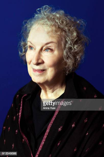 Writer Margaret Atwood is photographed for the Sunday Times magazine on October 29 2017 in London England
