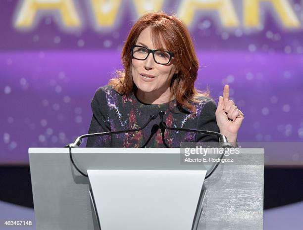 Writer Margaret Nagle accepts the Paul Selvin Award onstage at the 2015 Writers Guild Awards L.A. Ceremony at the Hyatt Regency Century Plaza on...