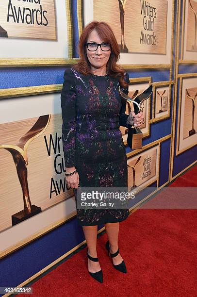 Writer Margaret Nagle poses with the Paul Selvin Award during the 2015 Writers Guild Awards L.A. Ceremony at the Hyatt Regency Century Plaza on...