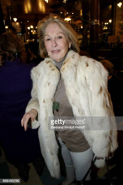 Writer Marie Dabadie attends the 83rd Prix Cazes de la Brasserie Lipp Literary Prize at Brasserie Lipp on March 22 2018 in Paris France