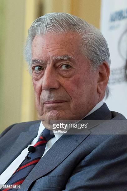 Writer Mario Vargas Llosa attends 'Prix del Dialogo' award 2016 press conference on June 7 2016 in Madrid Spain
