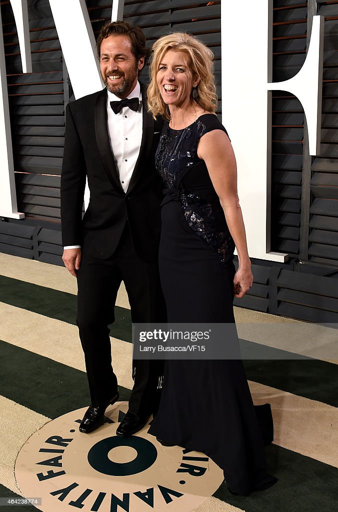 Writer Mark Bailey (L) and director Rory Kennedy attend the 2015 Vanity Fair Oscar Party hosted by Graydon Carter at the Wallis Annenberg Center for the Performing Arts on February 22, 2015 in Beverly Hills, California.