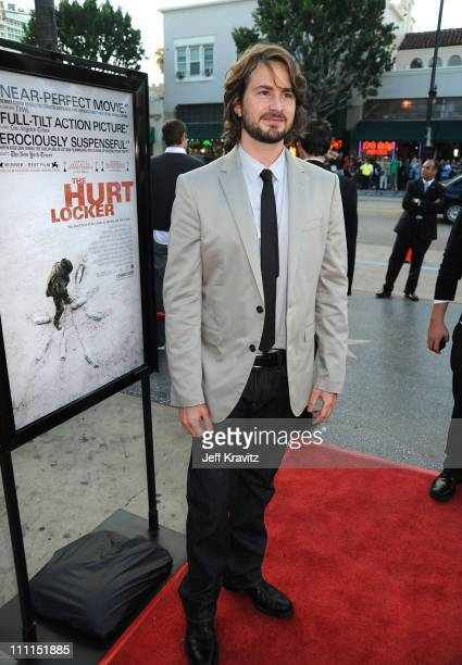 Writer Mark Boal arrives at Summit Entertainment's Premiere of The Hurt Locker held at the Egyptian Theatre on June 5 2009 in Hollywood California