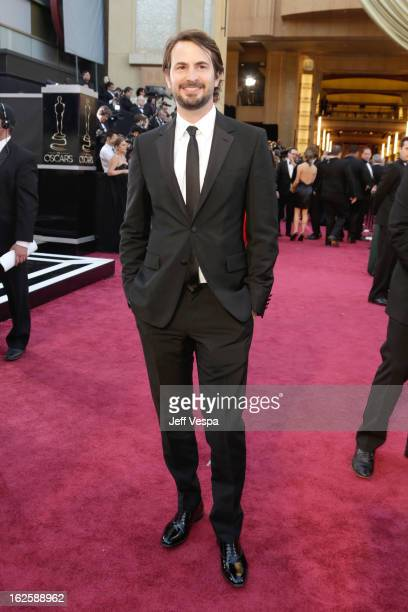 Writer Mark Boal arrives at the Oscars at Hollywood Highland Center on February 24 2013 in Hollywood California