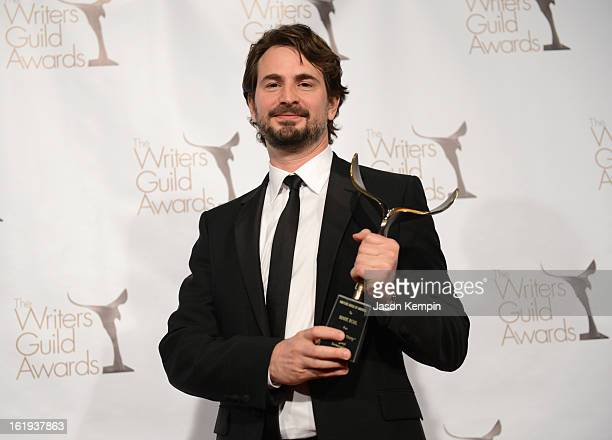 Writer Mark Boal winner of the Writers Guild Award for Best Original Screenplay poses in the press room during the 2013 WGAw Writers Guild Awards at...