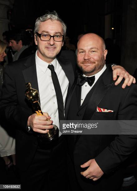 Writer Mark Logue and Producer Gareth Unwin attend the Weinstein Company's celebration for Best Picture winner 'The King's Speech' at Chateau Marmont...