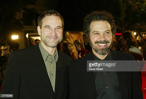 Writer Marshall Herskovitz and director Edward Zwick attend the WB's premiere of The Last Samurai at the Mann's Village Theatre December 1 2003 in...