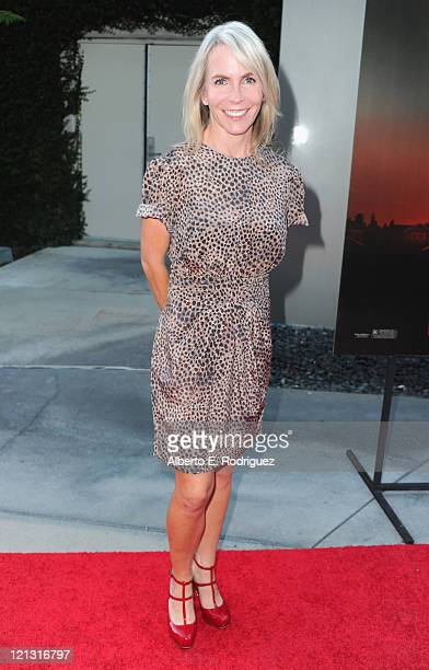 Writer Marti Noxon arrives to a screening of Dreamworks Pictures' Fright Night on August 17 2011 in Hollywood California