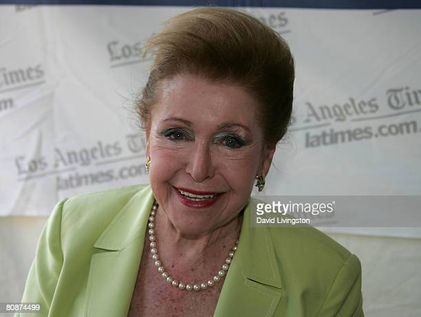 Writer Mary Higgins Clark attends the 13th annual Los Angeles Times Festival of Books at UCLA April 26 2008 in Los Angeles California