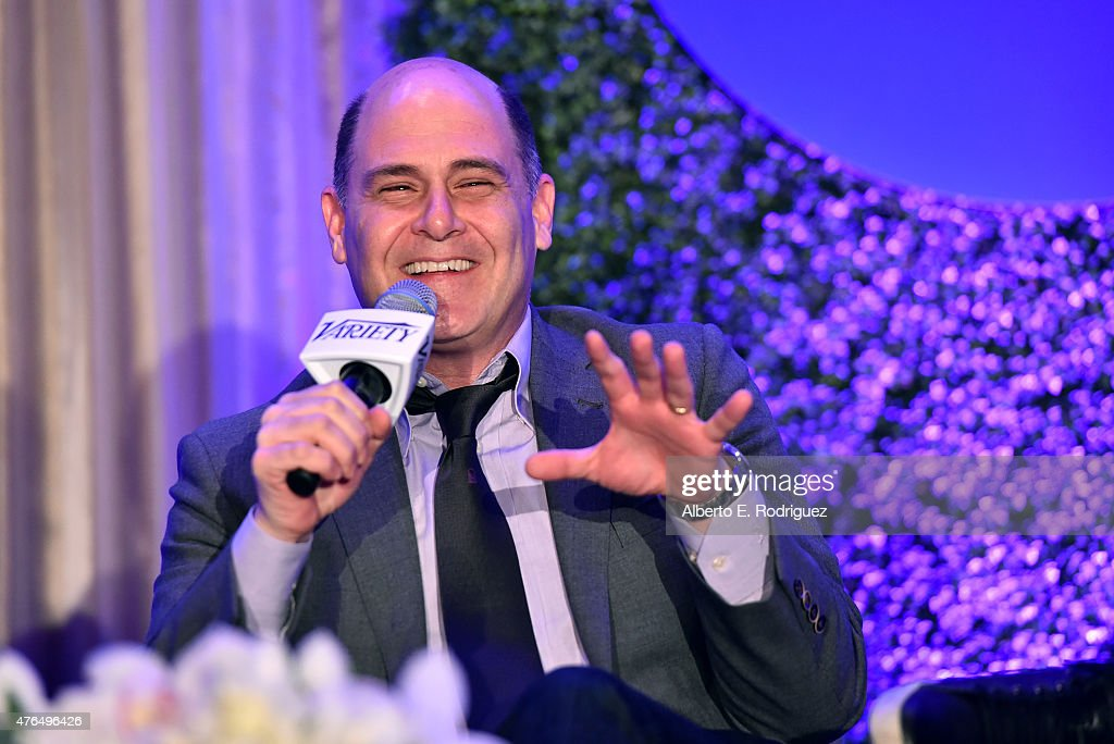 Writer Matthew Weiner of 'Mad Men' speaks at Variety's A Night In The Writers' Room at the Four Seasons on June 9, 2015 in Los Angeles, California.