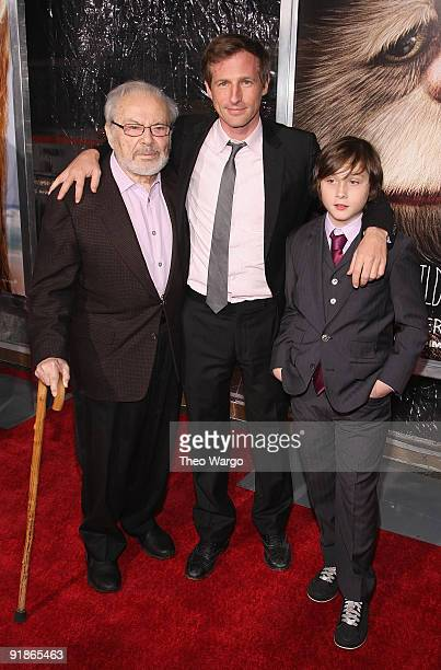 Writer Maurice Sendak Director Spike Jonze and Actor Max Records attend the 'Where the Wild Things Are' premiere at Alice Tully Hall Lincoln Center...
