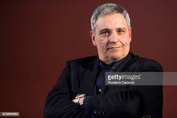 Writer Maurizio De Giovanni attends the reading for his novel 'Pane Per I Bastardi Di Pizzofalcone' at the Noir In Festival on December 14 2016 in...