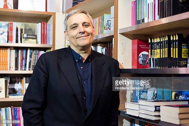 Writer Maurizio De Giovanni poses during the Noir In Festival on December 14 2016 in Milan Italy
