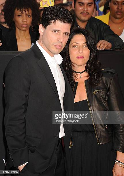 Writer Max Brooks and Michelle Kholos Brooks attend the World War Z New York Premiere on June 17 2013 in New York City