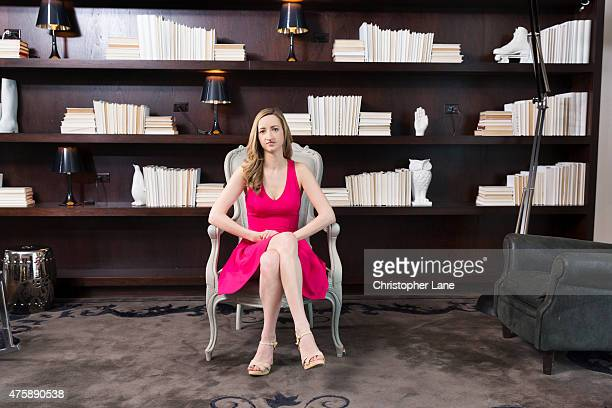Writer Melanie Berliet is photographed for Fabulous Magazine UK on May 20 2014 in New York City