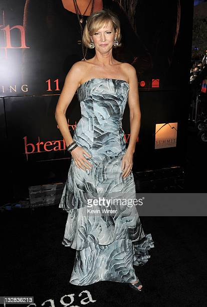 Writer Melissa Rosenberg arrives at the premiere of Summit Entertainment's The Twilight Saga Breaking Dawn Part 1 at Nokia Theatre LA Live on...