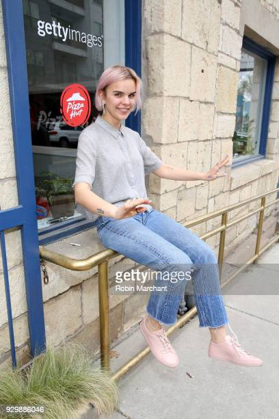 Writer Meredith Johnston from the film 'Pet Names' pose in the Pizza Hut Lounge at 2018 SXSW Film Festival on March 9 2018 in Austin Texas