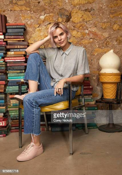 Writer Meredith Johnston from the film 'Pet Names' poses for a portrait in the Getty Images Portrait Studio Powered by Pizza Hut at the 2018 SXSW...