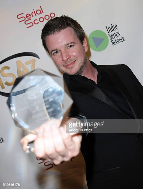 Writer Michael Caruso winner Best Writing in a Drama for Winterhome at the 7th Annual Indie Series Awards held at El Portal Theatre on April 6 2016...