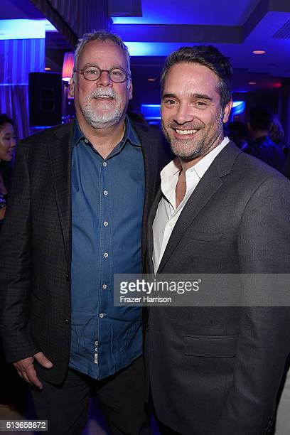 Writer Michael Connelly and producer Morgan Wandell attend 'Bosch' Season 2 after party at The Sunset Tower Hotel on March 3 2016 in West Hollywood...