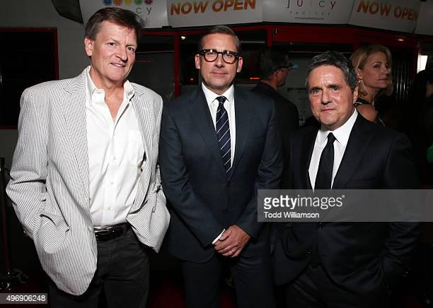 Writer Michael Lewis actor Steve Carell and chairman and CEO of Paramount Pictures Brad Grey attend the closing night gala premiere of Paramount...