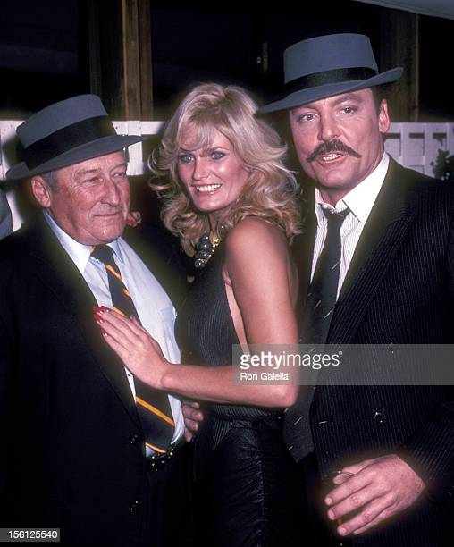 Writer Mickey Spillane Actress Randi Brooks Actor Stacey Keach attend the Cast and Crew Party for the CBS Television Movie 'Murder Me Murder You' on...
