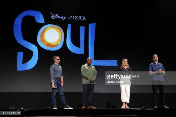 Writer Mike Jones CoDirector Kemp Powers Producer Dana Leigh Murray and Director Pete Docter of 'Soul' took part today in the Walt Disney Studios...