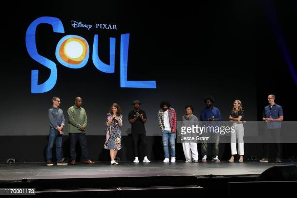 "Writer Mike Jones, Co-Director Kemp Powers, Tina Fey, Jamie Foxx, Daveed Diggs, Phylicia Rashad, Ahmir Khalib ""Questlove"" Thompson, Producer Dana..."