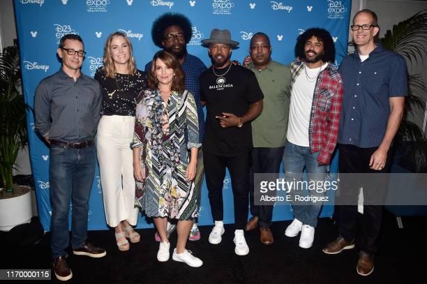 "Writer Mike Jones, Producer Dana Leigh Murray, Tina Fey, Ahmir Khalib ""Questlove"" Thompson, Jamie Foxx, Co-Director Kemp Powers, Daveed Diggs, and..."