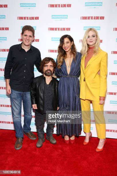 Writer Mike Makowsky actor Peter Dinklage director Reed Morano and actress Elle Fanning attend the New York Special Screening Of 'I Think We're Alone...