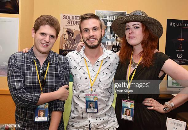 Writer Mike Makowsky director Michael Phillis and producer Alexa FraserHerron attend the 2015 Palm Springs International ShortFest on June 20 2015 in...