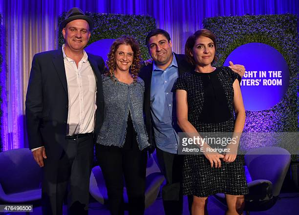 Writer Mike O'Malley of 'Survivors Remorse' writer Jennie Snyder Urman of 'Jane the Virgin' writer Adam F Goldberg of 'The Goldbergs and writer Jill...