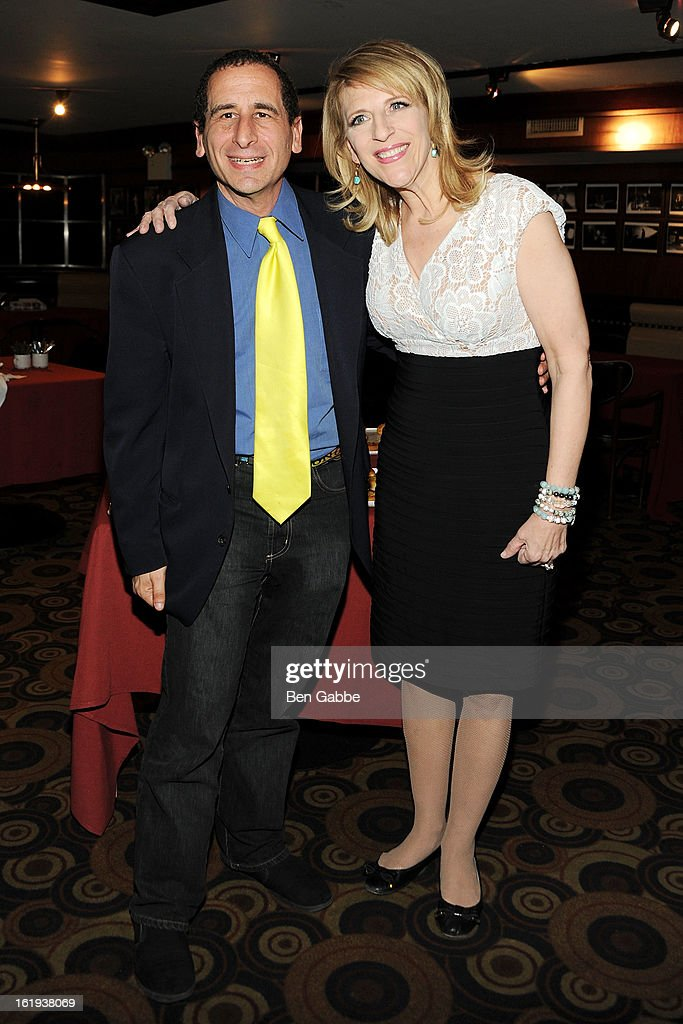 Writer Mike Reiss and Comedian Lisa Lampanelli attend 65th Annual Writers Guild East Coast Awards After Party at B.B. King Blues Club & Grill on February 17, 2013 in New York City.