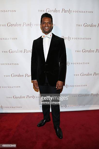 Writer Miles Marshall Lewis attends 2014 Gordon Parks Foundation awards dinner at Cipriani Wall Street on June 3 2014 in New York City