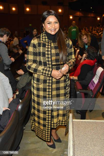 Writer Mindy Kaling attends the Late Night Premiere during the 2019 Sundance Film Festival at Eccles Center Theatre on January 25 2019 in Park City...