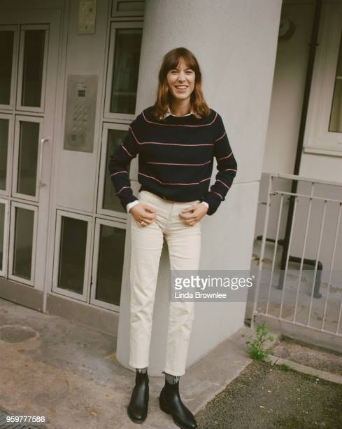 Writer model and fashion designer Alexa Chung is photographed for the Guardian Newspaper on May 22 2017 in London England