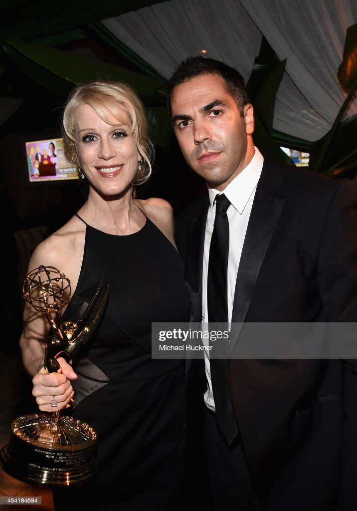 Writer Moira Walley-Beckett (L) and guest attend the FOX, 20th Century FOX Television, FX Networks and National Geographic Channel's 2014 Emmy Award Nominee Celebration at Vibiana on August 25, 2014 in Los Angeles, California.