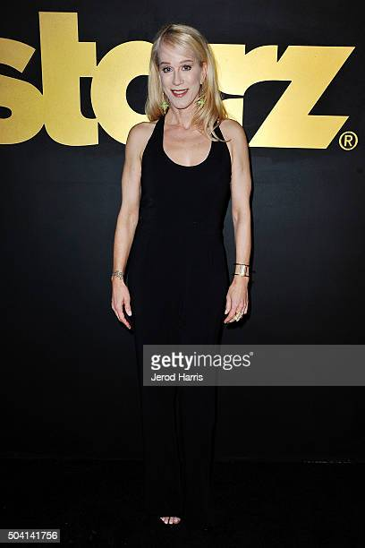 Writer Moira WalleyBeckett arrives at the STARZ PreGolden Globe Celebration at Chateau Marmont on January 8 2016 in Los Angeles California